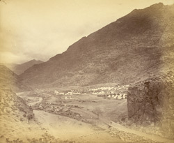 General view of valley and camp at Ali Masjid